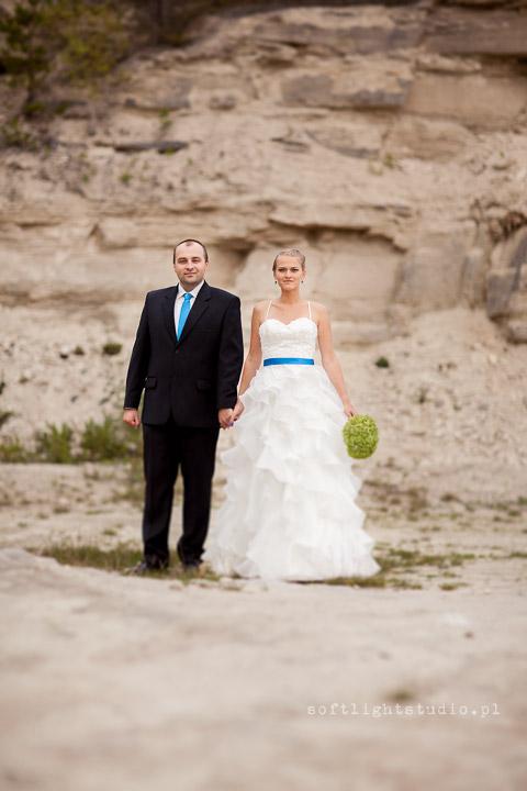 zdjęcia ślubne w kamieniołomie