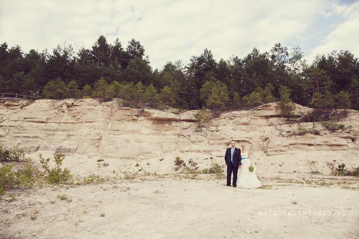 sesja ślubna w kamieniołomie